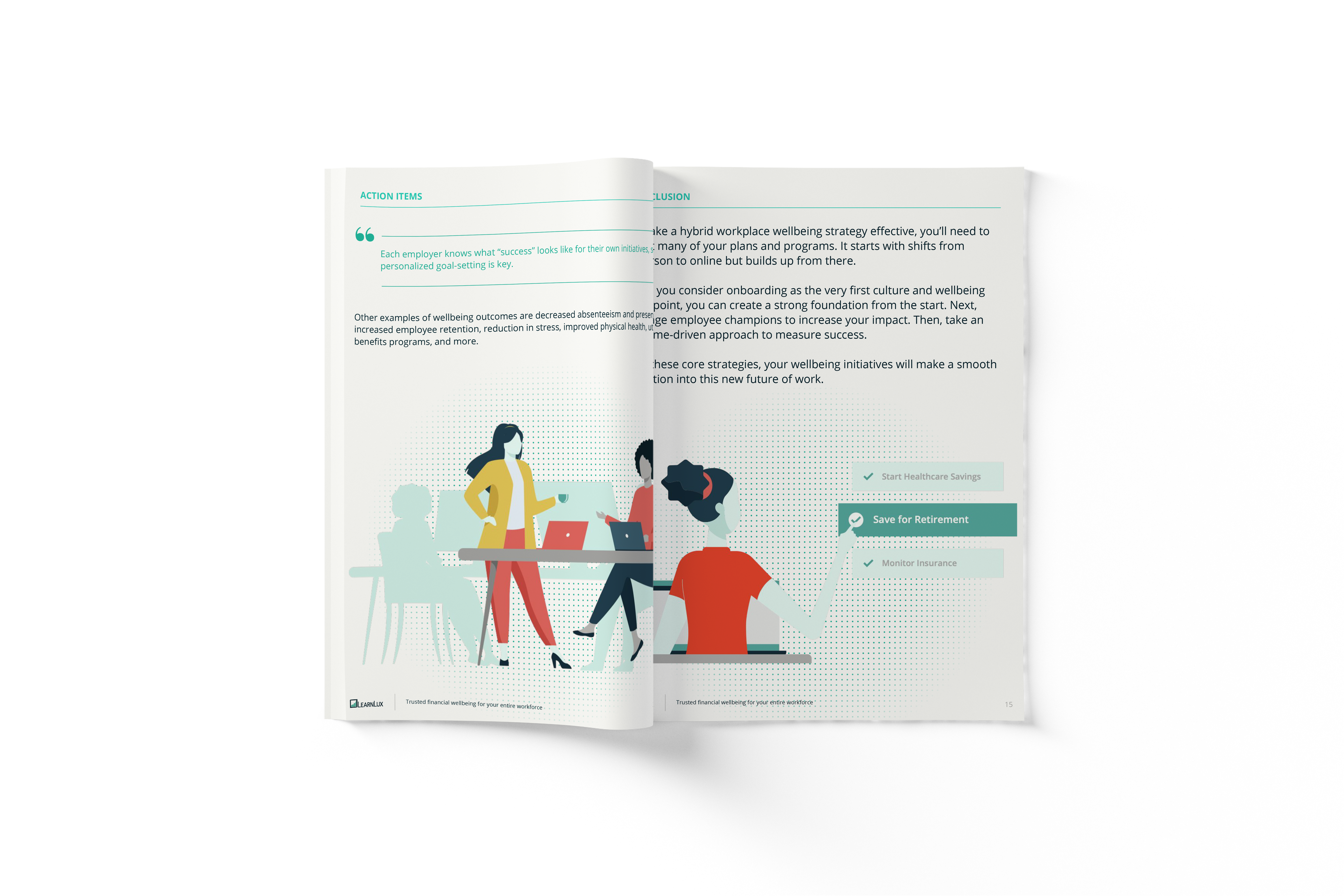 Financial wellbeing for the hybrid workplace ebook preview pages