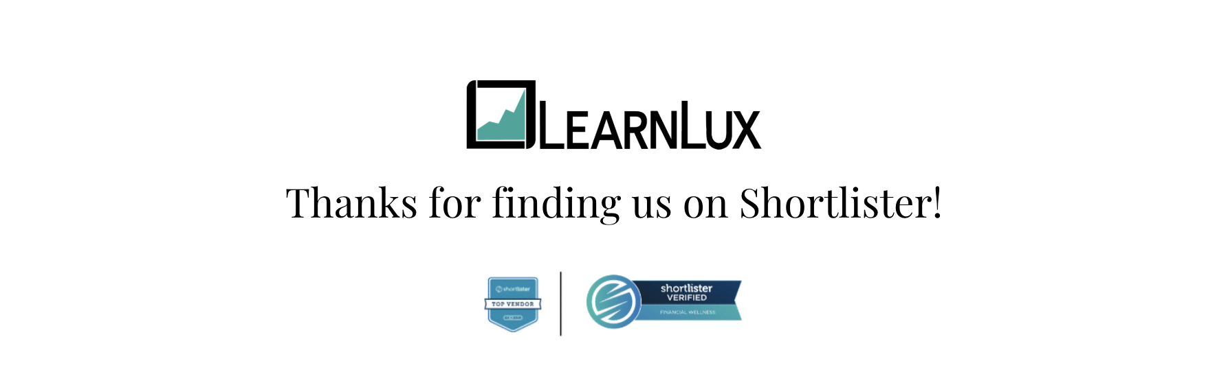 learnlux is the #1 financial wellness solution on shortlister